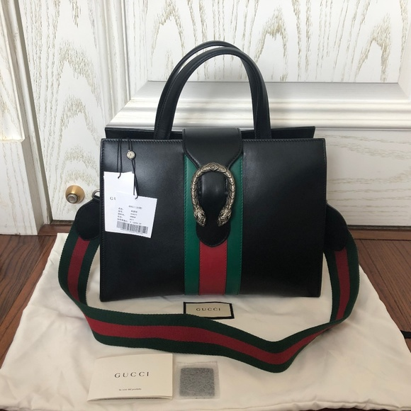 Gucci Handbags - Dionysus Medium Black Leather Tote